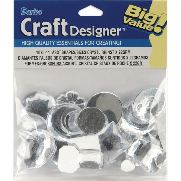 Rhinestone Shapes 28gAssorted Crystal