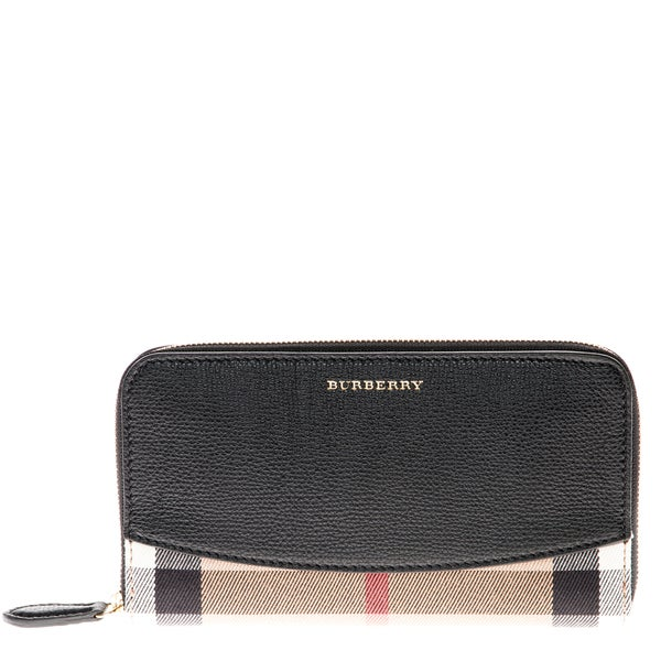 Burberry House Check Sartorial Zip Around Wallet