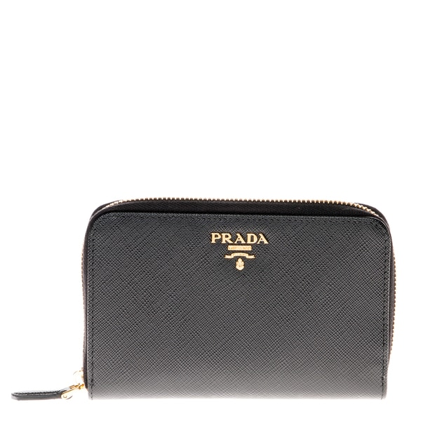 Prada Small Saffiano Leather Zip Wallet