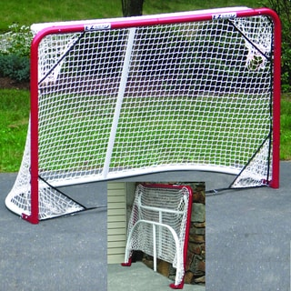 2-inch Heavy-Duty Official Regulation Folding Metal Hockey Goal with Corner Targets