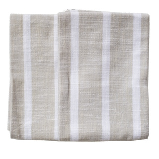 Dobby Stripe Natural Kitchen Towels (Set of two)