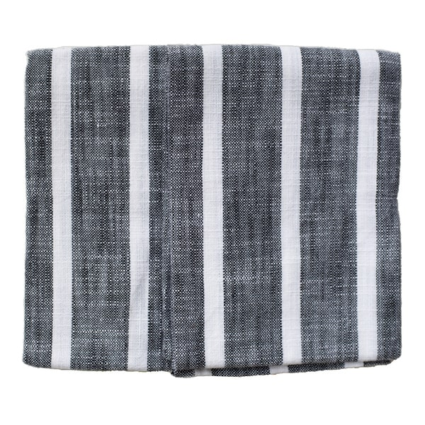 Dobby Stripe Black Kitchen Towels (Set of 2)