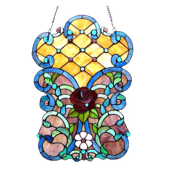 Chloe Lighting Victorian Design Window Panel/Suncatcher