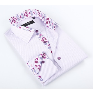 Coogi Luxe Men's Lavander Solid Button-up Dress Shirt