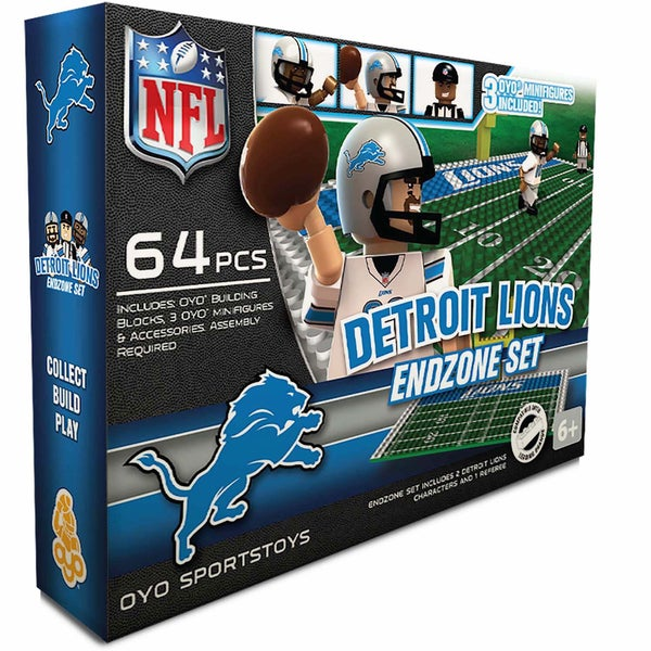 Oyo NFL Detroit Lions 64-Piece End Zone Building Set 16168456
