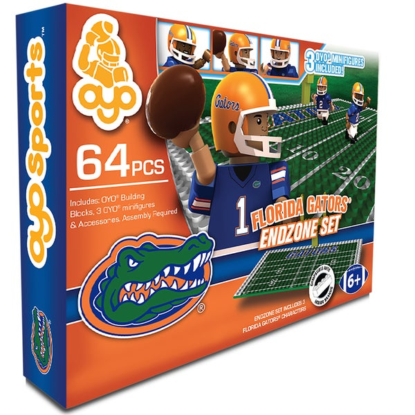 Oyo NCAA Florida Gators 64-Piece End Zone Building Set 16168476