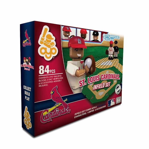 Oyo MLB St. Louis Cardinals 84-Piece Infield Building Set