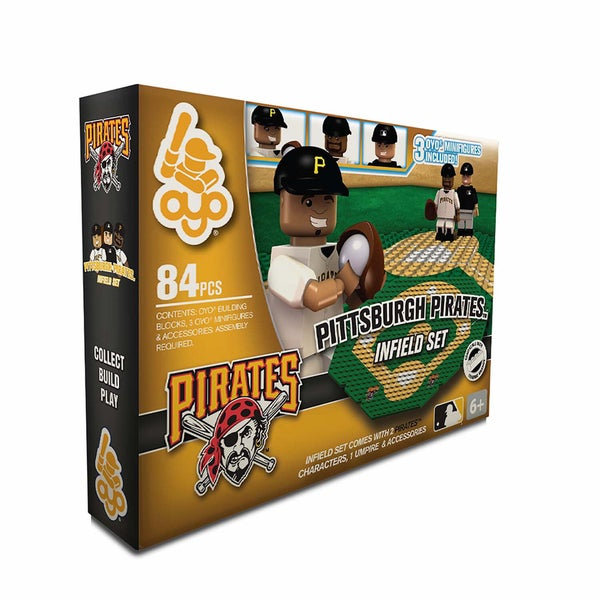 Oyo MLB Pittsburgh Pirates 84-Piece Infield Building Set 16168516