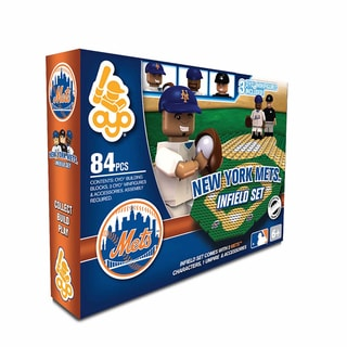 Oyo MLB New York Mets 84-Piece Infield Building Set