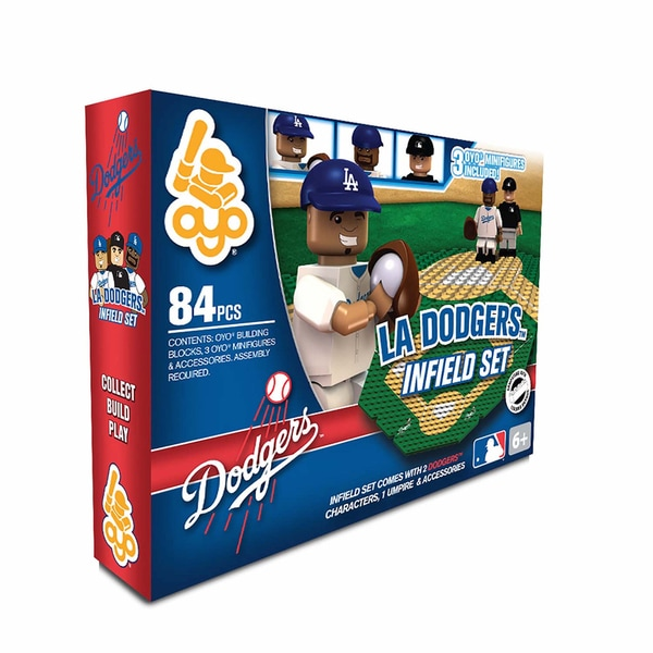 Oyo MLB Los Angeles Dodgers 84-Piece Infield Building Set 16168519