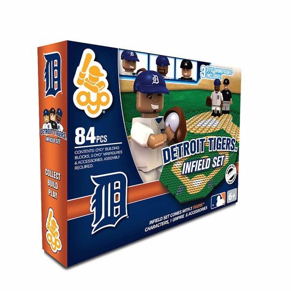 Oyo MLB Detroit Tigers 84-Piece Infield Building Set 16168522