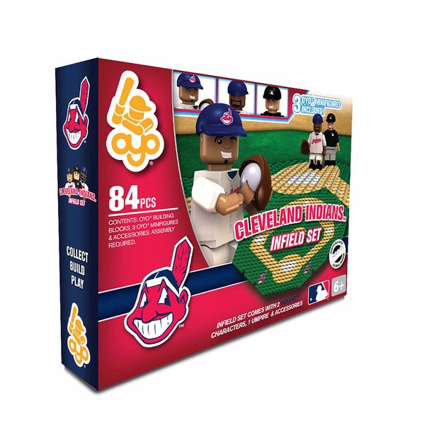Oyo MLB Cleveland Indians 84-Piece Infield Building Set 16168523