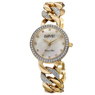 August Steiner Women's Japanese Quartz Diamond Alloy Bracelet Watch