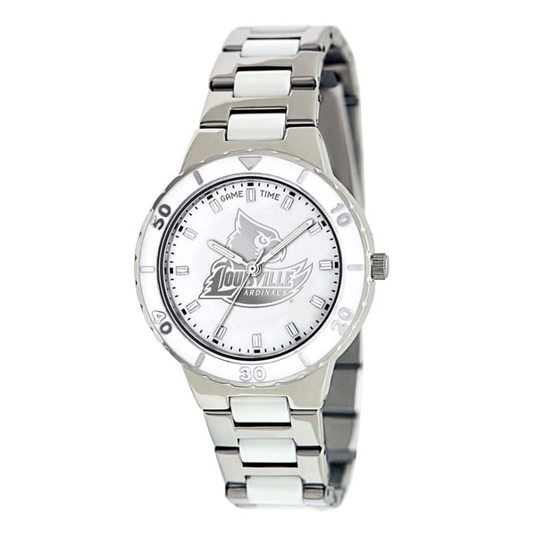 Game Time Louisville Cardinals Logo Pearl Watch