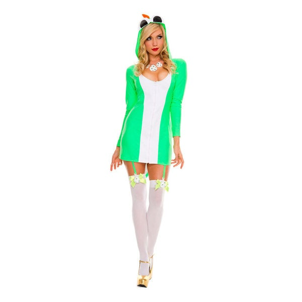 Women's Costume Green Dinosaur Dress