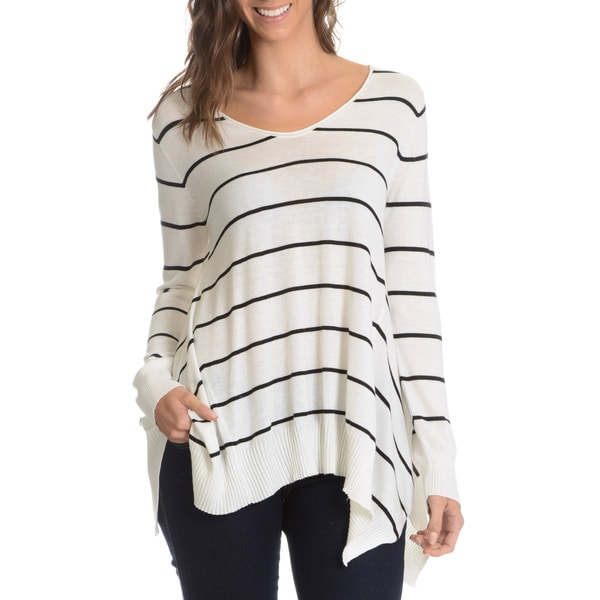G9C Women's Stripe A-Line Sweater Knit Top