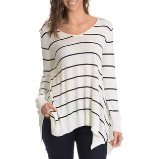 G9C Women's Stripe A-Line Sweater Knit Top