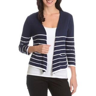 G9C Women's Stripe 2 Pocket Shrug