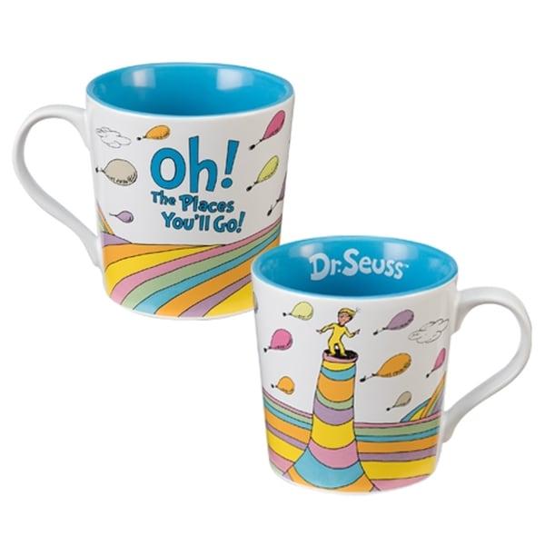 Dr. Seuss Oh The Places You'll Go White Ceramic Coffee Mug