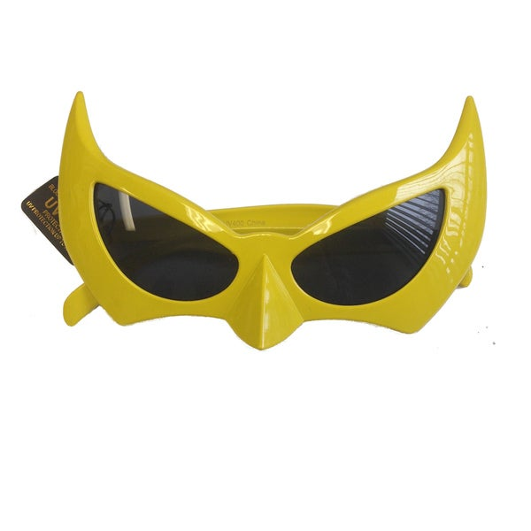 Yellow Bat Style Sunglasses