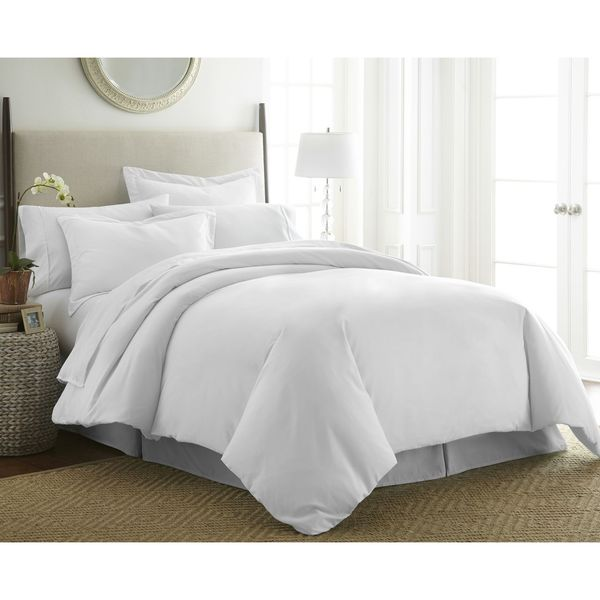 Merit Linens Extra Soft Zippered 3-piece Duvet Cover Set