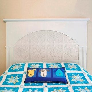 Fasade Traditional Style #2 Matte White Wall Panel (4'x8')