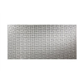 Fasade Traditional Style #1 Crosshatch Silver Wall Panel (4'x8')