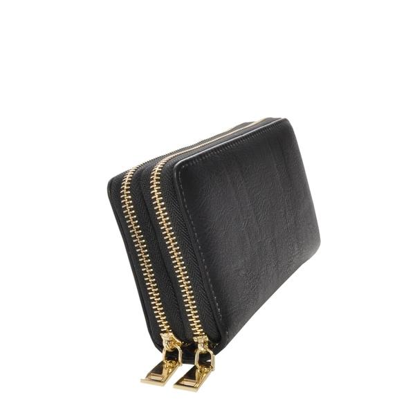 Mechaly Women's Nancy Black Vegan Leather Wallet