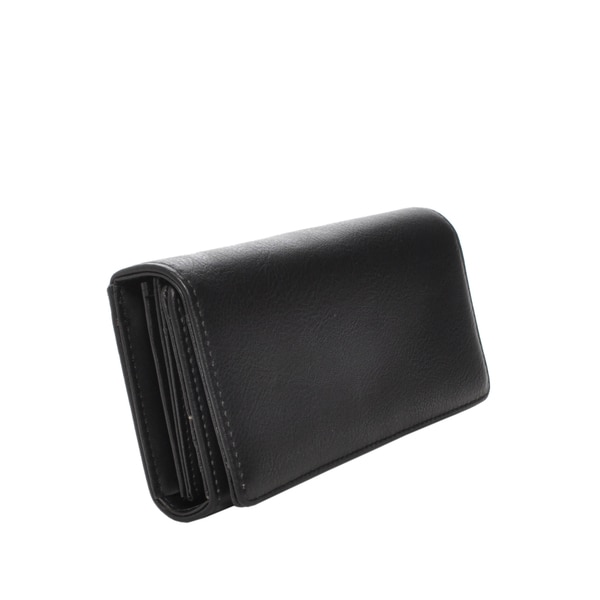 Mechaly Women's Ally Black Vegan Leather Wallet