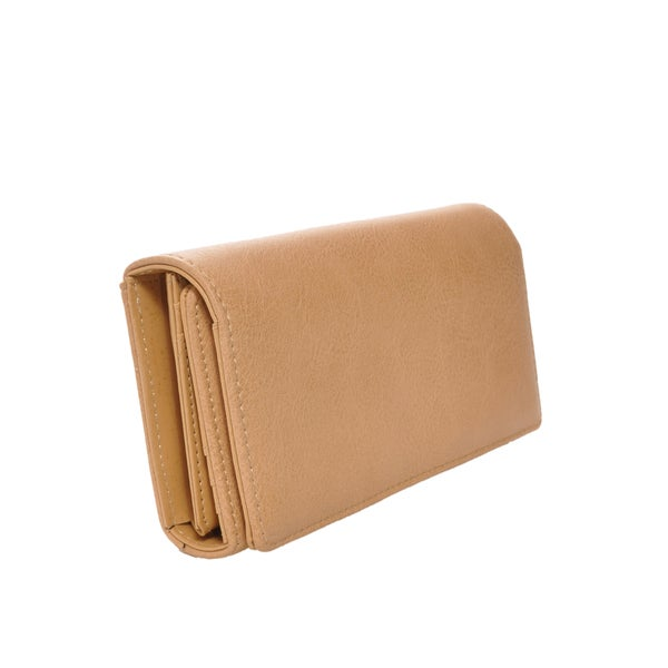 Mechaly Women's Ally Tan Vegan Leather Wallet