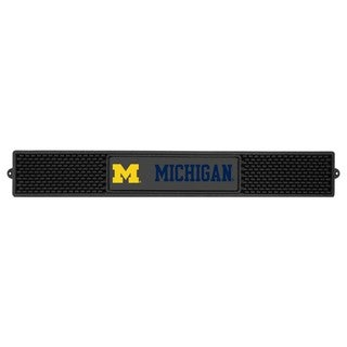 Fanmats Michigan Wolverines Charcoal Rubberized Drink Mat