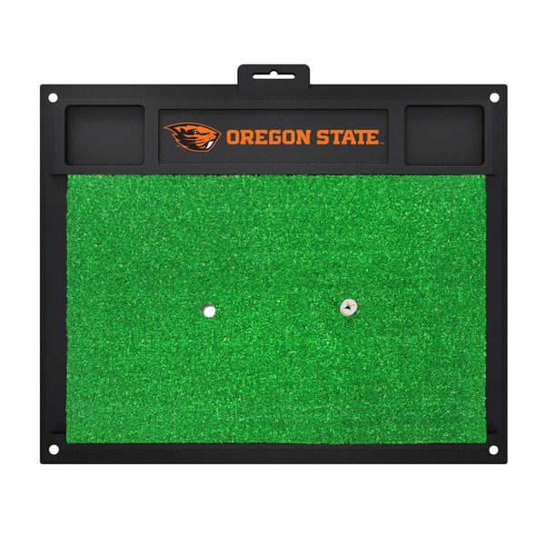 Fanmats NCAA Oregon State Golf Hitting Mats - Green/Black (20