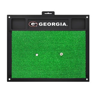 Fanmats Georgia Bulldogs Green Rubber Golf Hitting Mat