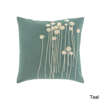 Decorative Carlie Floral 22-inch Throw Pillow