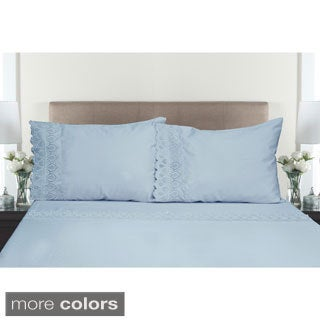 600 Thread Count Easy Care 4-piece Sheet Set with Lace