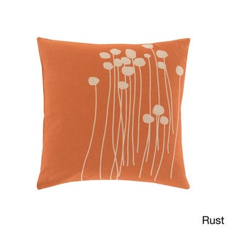 Copper Grove Anamalai Floral Orange 20-inch Throw Pillow