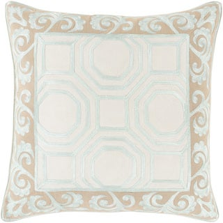 Florence de Dampierre Kirsten Geometric Feather and Down Filled or Poly Filled 18-inch Throw Pillow