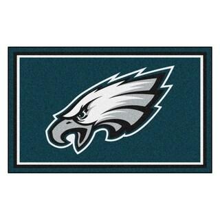 Fanmats Philadelphia Eagles Teal Nylon Area Rug (4' x 6')