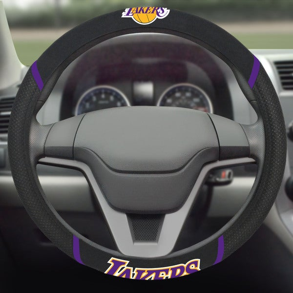 Fanmats Los Angeles Lakers Black Mesh Steering Wheel Cover 16174689