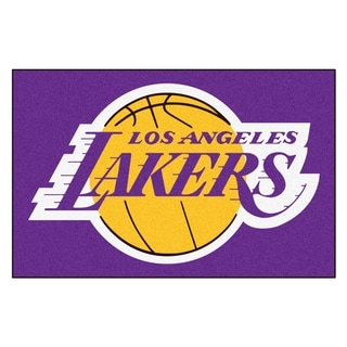 "Fanmats Los Angeles Lakers Black Nylon Starter Mat (1'6"" x 2'5"")"