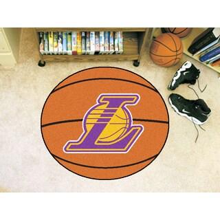 "Fanmats Los Angeles Lakers Orange Nylon Basketball Mat (2'2"" x 2'2"")"