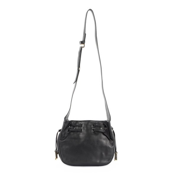 Halston Heritage Smooth Leather Medium Drawstring Bianca Bag