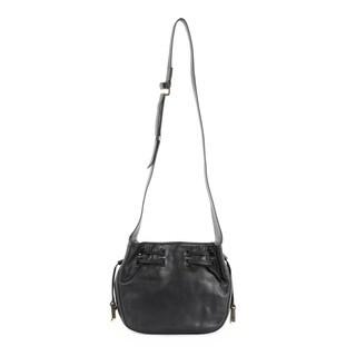Halston Heritage Smooth Leather Medium Drawstring Bianca Bag