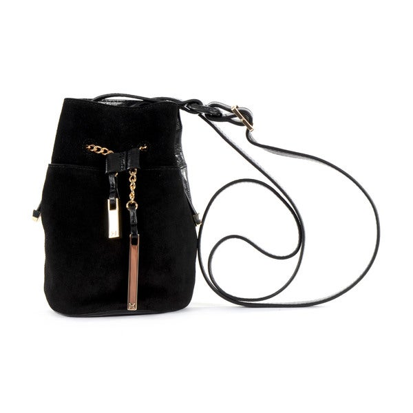 Halston Heritage Leather/ Suede Mini Bucket Bag