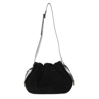 Halston Heritage Glazed Leather/ Suede Large Drawstring Bianca Bag