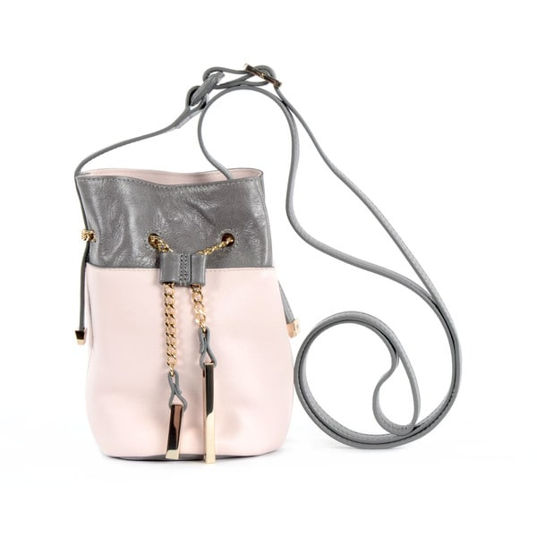 Halston Heritage Two-Tone Pink Mini Bucket Bag