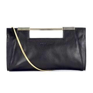 Halston Heritage Smooth Leather Lauren Clutch