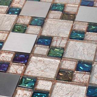 Genoa 10.78 square Foot Glass Tiles (Case of 11 sheets)