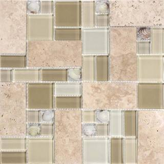 Sandy Cliff 10.78 square Foot Glass Tiles (Case of 11 sheets)