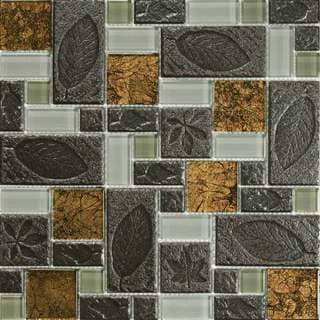 Jurassic 10.78 square Foot Glass Tiles (Case of 11 sheets)